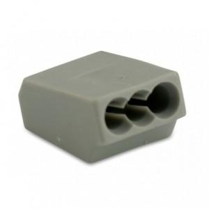 Szybkozłączka 3x2,5 zakres 0,75-2,5 mm2 szara op. 100 szt. BM Group 803
