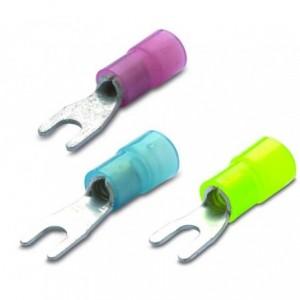 Końcówka kablowa izolowana widełkowa 6/5 nylon 105degc żółta zakres 4-6 mm2 op. 100...