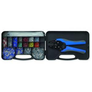 Zestaw w podwójnym pudełku z rączką z automatycznymi szczypcami z tulejkami izolowanymi...