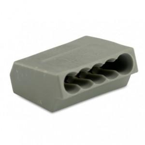 Szybkozłączka 5x2,5 zakres 0,75-2,5 mm2 szara op. 100 szt. BM Group 805