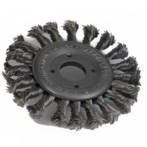 Szczotka tarczowa drut pleciony ze stali nierdzewnej br001-whb stskw 125x11x22,2mm drut...