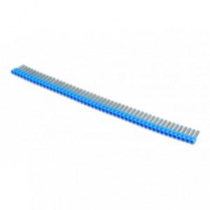 Końcówka tulejkowa izolowana w postaci pasków 0,75/8 0,75 mm2 szara kolor din 46228/4...