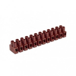 Listwa zaciskowa śrubowa 6p 2,5 mm2 z ochroną przewodu polamid kolor naturalny op. 1250...