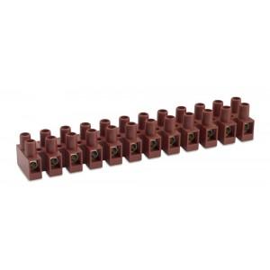 Listwa zaciskowa śrubowa 8p 4 mm2 z ochroną przewodu polamid kolor naturalny op. 100...