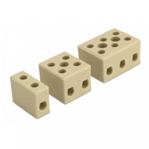 Kostka łączeniowa ceramiczna 1p biała steatyt 6 mm2 450v opakowanie 324 sztuk Beta BM9519