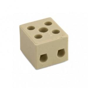 Kostka łączeniowa ceramiczna 3p biała steatyt 6 mm2 450v op. 36 szt. BM Group 9521