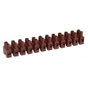 Listwa zaciskowa śrubowa 10p 6 mm2 z ochroną przewodu polamid kolor naturalny op. 100...