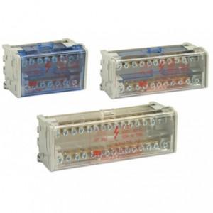 Blok rozdzielczy dwupolowy 2p 125 a 11x(1,5-6 mm2)+2x(6-16 mm2)+2x(10-25 mm2) op. 1...