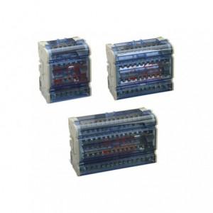 Blok rozdzielczy czteropolowy 4p 100 a 5x(1,5-6 mm2)+2x(6-16 mm2) opakowanie 1 sztuka...