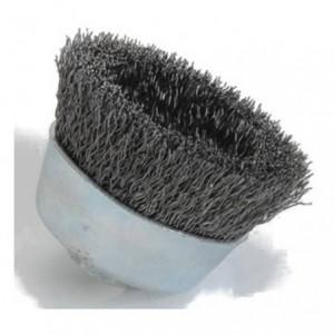 Szczotka doczołowa, drut karbowany ze stali węglowej , br001-cpb noscw 125xm14 0,3 t35...