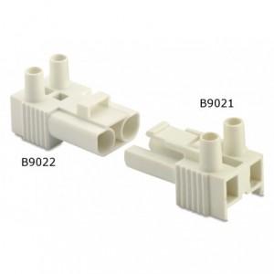 Wtyk szybkozłączki elektrycznej 2p 2,5 mm2 biały bez obudowy pa6.6 op. 100 szt. BM...