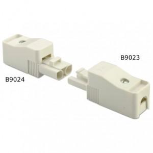 Wtyk szybkozłączki elektrycznej 2p 2,5 mm2 biały obudowa biała pa6.6 op. 50 szt. BM...