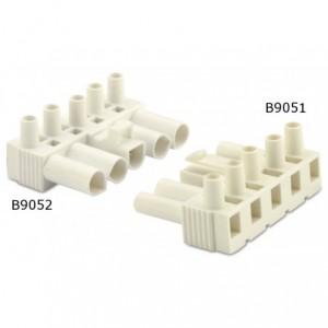 Wtyk szybkozłaczki elektrycznej 5p 2,5 mm2 biały bez obudowy pa6.6 opakowanie 50 sztuk...