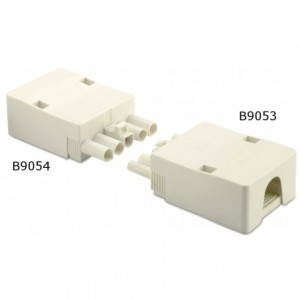 Gniazdo szybkozłaczki elektrycznej 5p 2,5 mm2 białe obudowa biała pa6.6 op. 50 szt. BM...