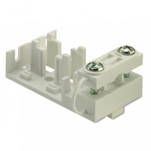 Uchwyt z zaciskiem kablowym do złączek serii m093/m094 3p 3x2,5 mm2 biały pa6.6 op....