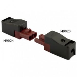 Gniazdo szybkozłączki elektrycznej wzmocnione 2p 2,5 mm2 brązowe obudowa czarna...