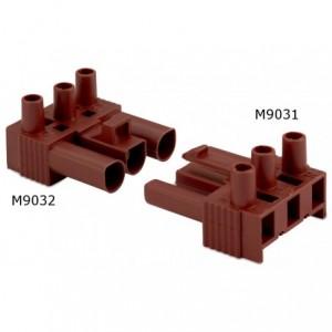 Wtyk szybkozłaczki elektrycznej wzmocniony 3p 2,5 mm2 brązowy bez obudowy pa6.6+25%...