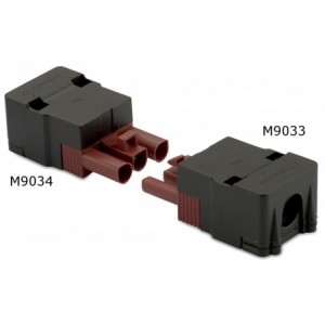 Wtyk szybkozłaczki elektrycznej wzmocniony 3p 2,5 mm2 brązowy obudowa czarna pa6.6+25%...