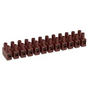 Listwa zaciskowa śrubowa 12p 2,5 mm2 z ochroną przewodu polamid kolor naturalny op. 50...