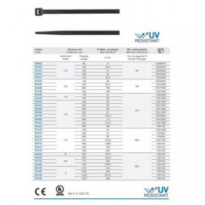 Opaska zaciskowa kablowa 540x7,6 mm poliamidowa pa 6.6 kolor czarny op. 100 szt. BM...
