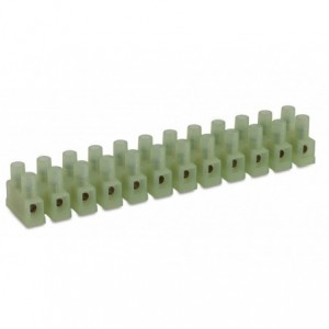 Listwa zaciskowa śrubowa 1p 4 mm2 polamid kolor naturalny op. 100 szt. BM Group N9201/1