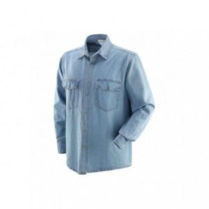 Koszula jeans niebieska l Beta 431015/L