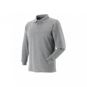 Koszulka polo tricolor szara l Beta 471057/L