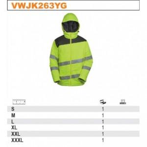 Kurtka krótka ociepl.ostrzegawcza pomar-szara xl Beta VWJK263OG/XL