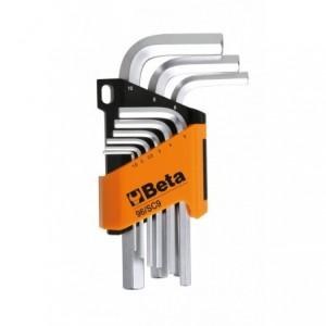 Komplet kluczy trzpieniowych kątowych sześciokątnych 96 1,5-10mm 9 sztuk w uchwycie z...