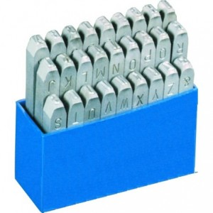 Znaczniki stemple literowe Standard 3 mm Litery wielkie