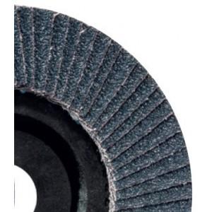 Ściernica listkowa talerzowa płaska cyrkonowa z60 talerz fibrowy 125x22mm listki pojedyncze abrabeta abrabeta silver