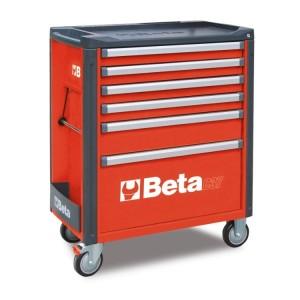 Wózek narzędziowy c37 6 szufl.czerwony