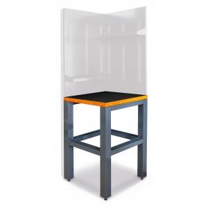 Stół rob.narożny 0,7x0,7m szary d/s.c55
