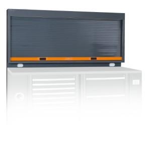 Tablica narzędziowa systemu rsc55 z roletą pusta przygotowana do montażu 2 gniazd elektrycznych ral 7016 szary z pomarańczow