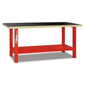 Stół warsztatowy c56b czerwony