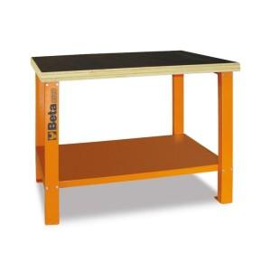 Stół warsztatowy c58b pomarańczowy