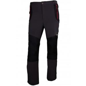 Spodnie robocze softshell wzmocnione materiałem oxford szaro-czarne rozmiar l