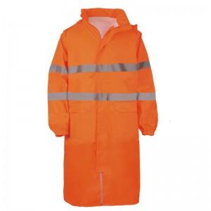 Płaszcz dł.p-deszcz.ostrzeg.pomar.xl
