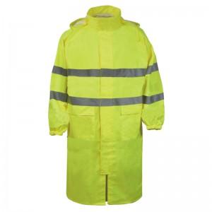 Płaszcz dł.p-deszcz.ostrzeg.żółty xxl