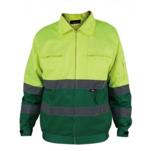 Kurtka ostrzegawcza o intensywnej widzialności wykonana z poliestru i bawełny żółto-zielona vwtc06-b rozmiar l