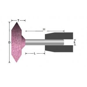 Ściernica ceramiczna trzpieniowa tarczowa a37-30x6x6mm ar60p5v abrabeta stal