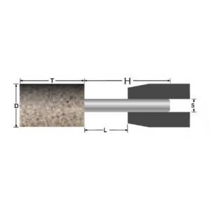 Ściernica ceramiczna trzpieniowa walcowa 15x30x6mm a/ab30q5b spoiwo żywiczne abrabeta inox