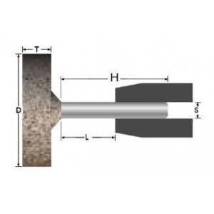Ściernica ceramiczna trzpieniowa walcowa 40x20x6mm a/ab30q5b spoiwo żywiczne abrabeta inox