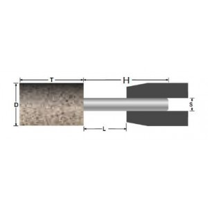 Ściernica ceramiczna trzpieniowa walcowa 30x40x8mm a/ab30q5b spoiwo żywiczne abrabeta inox