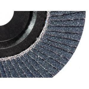 Ściernica listkowa talerzowa płaska cyrkonowa z120 talerz nylonowy 115x22mm listki...