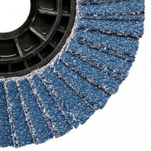 Ściernica listkowa talerzowa płaska cyrkonowa z80 talerz nylonowy wzmocniony 125x22mm...