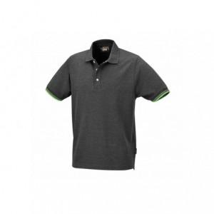 Koszulka polo bawełn.szara 7547g s