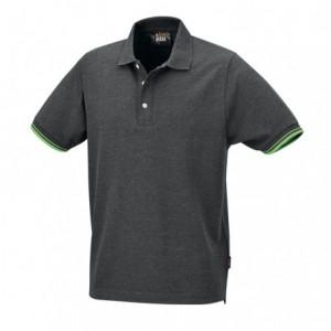 Koszulka polo bawełn.szara 7547g xxxl