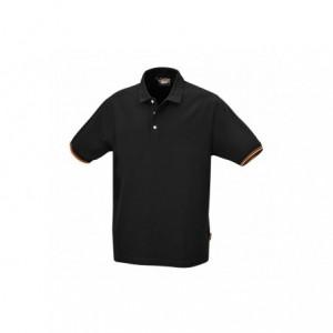 Koszulka polo bawełn.czarna 7547n xxxl
