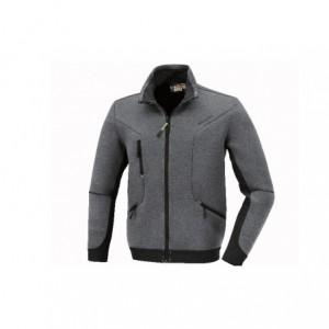 Bluza termiczna z tkaniny 3d szara z czarnymi wstawkami rozmiar xs